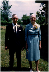 My grandparents William and Crescentia Seiter at their Golden Wedding anniversary, May 1969