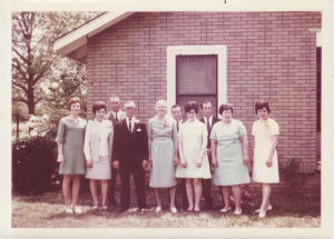 left to right, my mother, Aunt Betty, Uncle Andy, Grandfather, Grandmother, Uncle Herman, Aunt Millie, Uncle Martin, Aunt Anne, Aunt Jenny