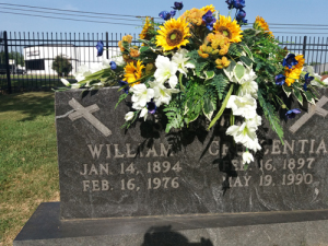 Grandparents' grave in St. Joseph's cemetery, Conway