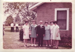 left to right, Aunt Jenny, mother, Grandfather, Aunt Anne, Aunt Betty, Aunt Millie